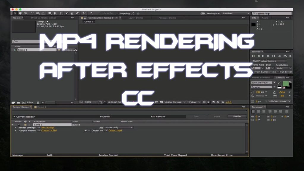 Two Methods of Exporting MP4 from After Effects CC