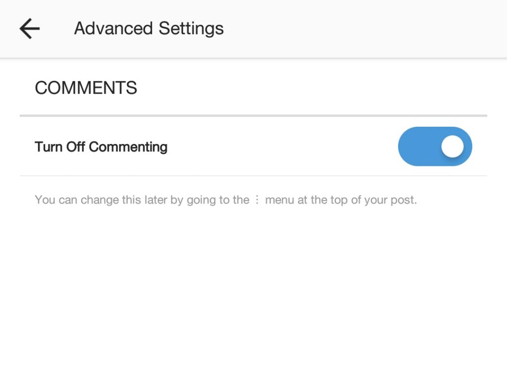 How to disable comments