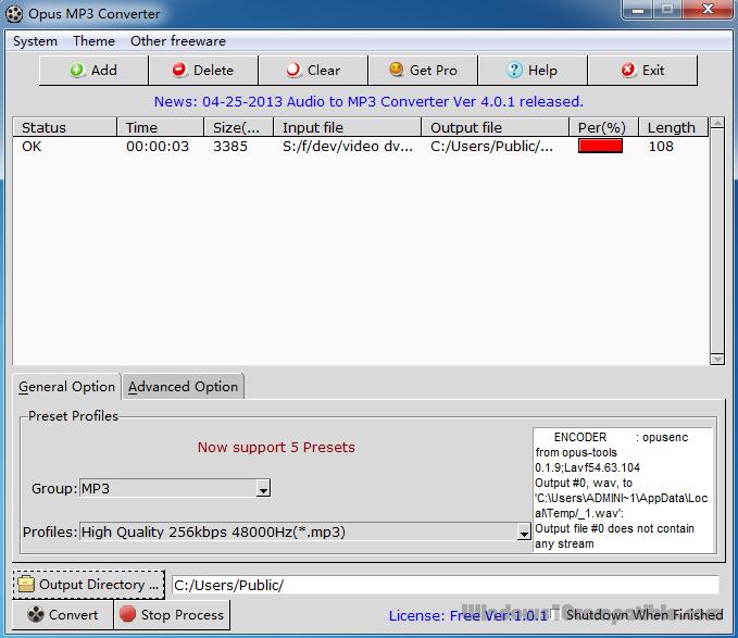 Opus Mp3 Converter 1.0.1