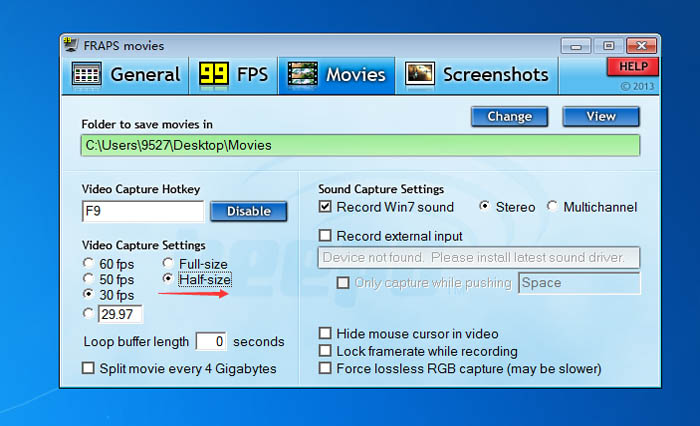 Reduce File Size While Recording with Fraps
