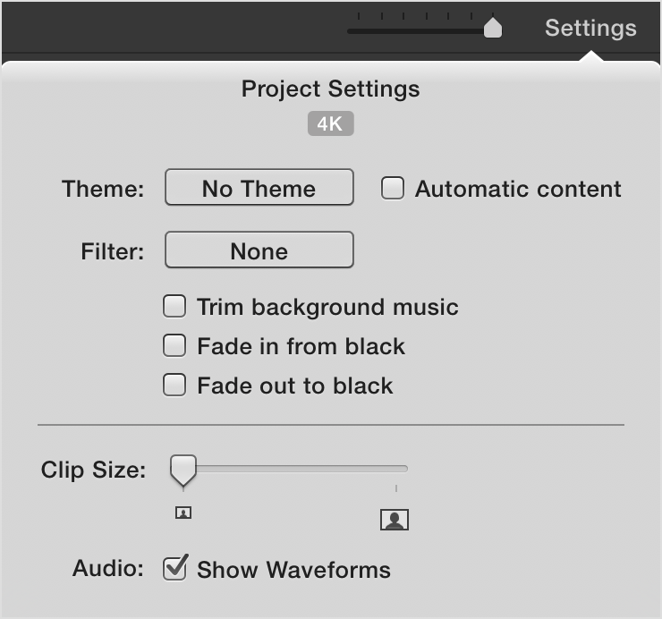 4k settings