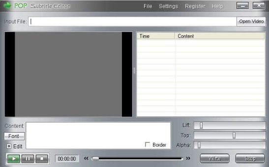 POP Subtitle Editor