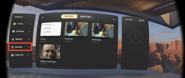 Click Airscreen button
