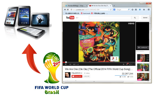 Watch YouTube FIFA World CUP Theme Songs on the move