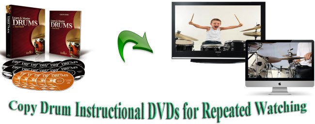 Copy Drum Instructional DVDs for Repeated Watching