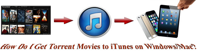 How Do I Get Torrent Movies to iTunes on Windows/Mac?