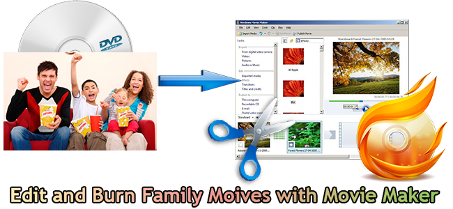 Rip Family DVD Movies to MP4 for Editing and Publishing to CD with Movie Maker