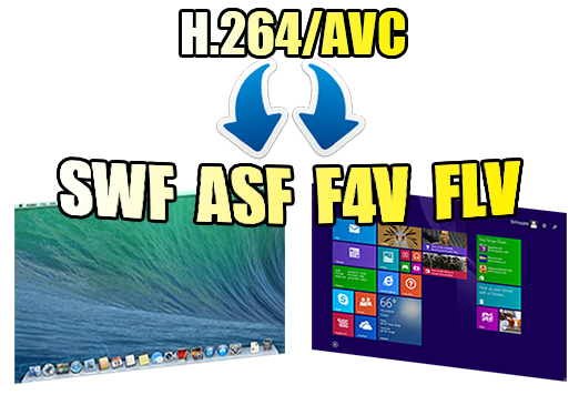 Convert H.264/AVC Files to SWF/ASF/F4V/FLV on Windows 8.1/Mavericks