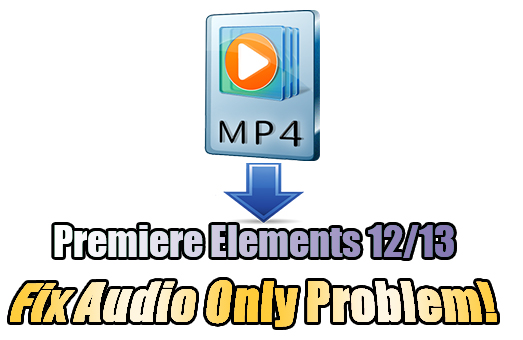 Audio Only When Importing MP4 Files into Premiere Elements 12/13