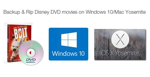 Backup & Rip Disney DVD Movies on Windows 10/Mac Yosemite