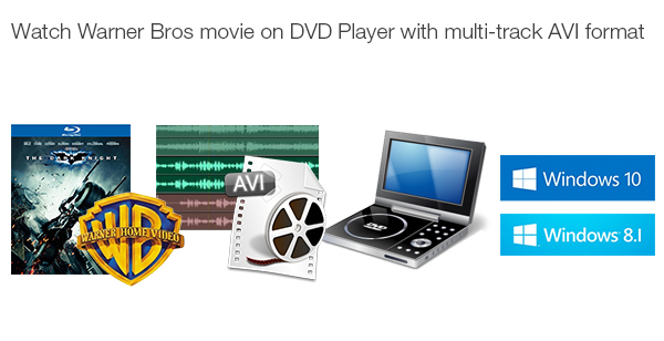 Rip Warner Bros DVD Movie to AVI with Multi-track for Playing on DVD Player