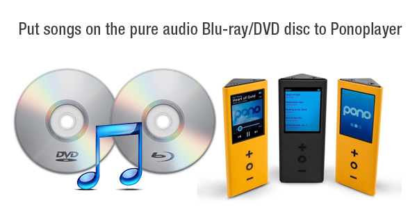Put Songs on the Pure Audio Blu-ray/DVD Disc to PonoPlayer