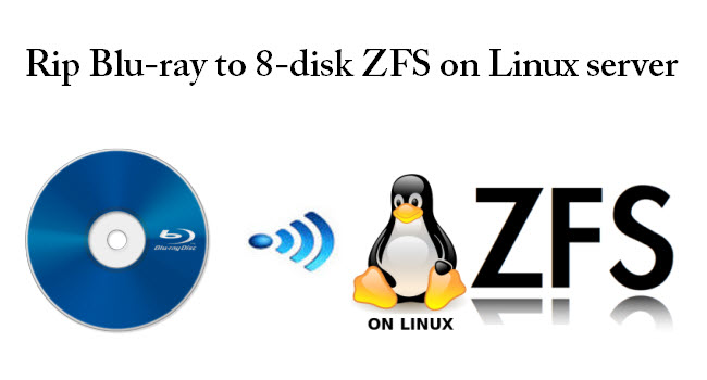 Backup ripped Blu-ray on 8-disk ZFS with a Linux server in my living room