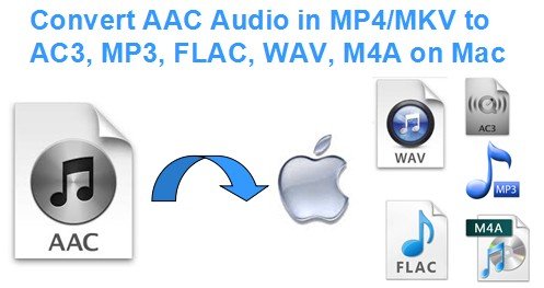 Way to Convert AAC audio in MP4/MKV to AC3/MP3 and play in VLC on Mac