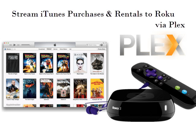 Strip iTunes video DRM protection and watch on Roku via Plex