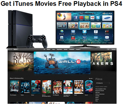 Do I have any chance to play iTunes M4V movies on PS4 freely?