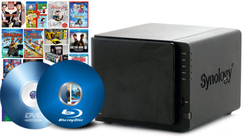 Upload Blu-ray/DVD copy to Synology DS414 without Quality Loss
