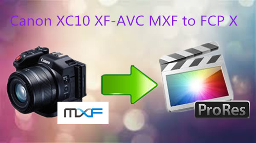 Load Canon XC10 XF-AVC MXF to FCP X for Editing