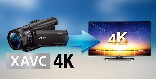 Play Sony 4K XAVCS on Samsung/Sony/LG/Panasonic 4K UHD TV