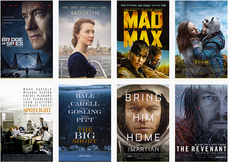 Combine Multiple 2016 Oscars Movie Clips into One video