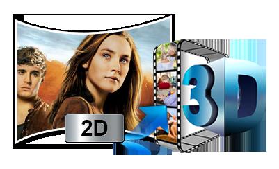 Convert 2D Video/Blu-ray/DVD to 3D MP4/MKV/MOV/AVI/WMV