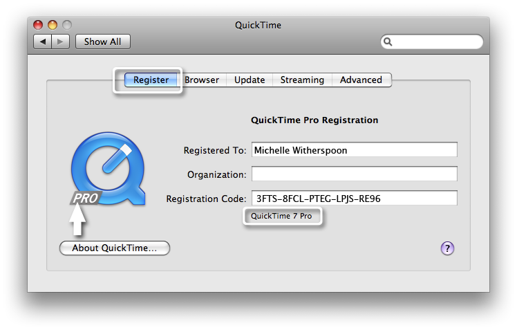 How to Install and Run QuickTime 7 Pro on Mac OS X El Capitan?
