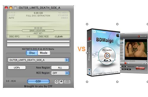 Comparison of MacTheRipper with Pavtube BDMagic for Mac