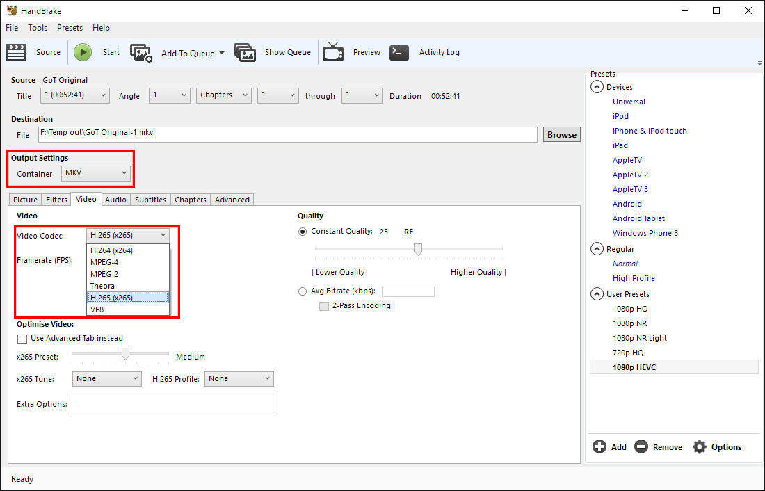 Fix Common Handbrake 1.0.7 H.265 Encoding Failures