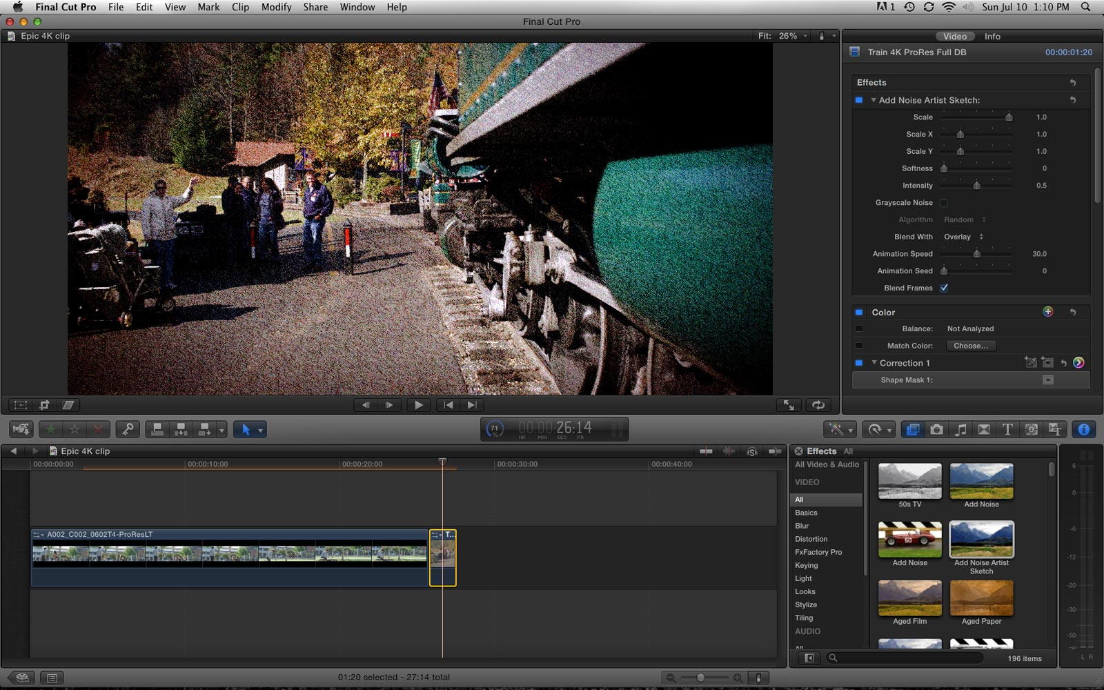 Import and Edit the Video in Final Cut Pro X 10.4